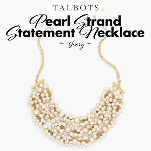 Pearl Strand Statement Necklace